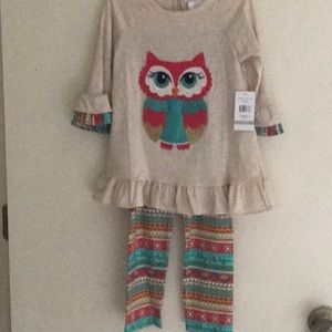 Girls owl outfit